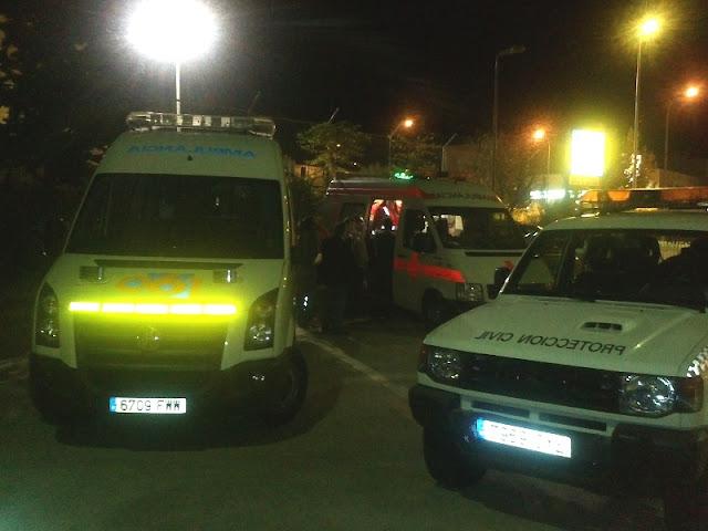 Uvi del 061, Unidad de CRE Antequera y vehículo de Protección Civil Benalmádena