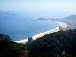 Rio de Janeiro beach in Brazil