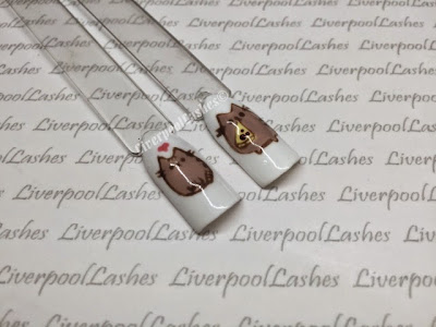 liverpool lashes liverpoollashes facebook pusheen nail art cat cute