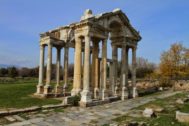 Tetrapylon - entrance gateway of Aphrodisias, Turkey