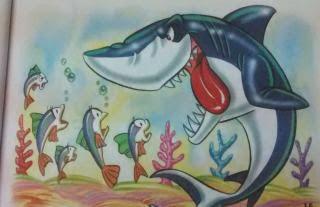 Los peces y el tiburon
