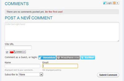 IntenseDebate comment system on Blogger