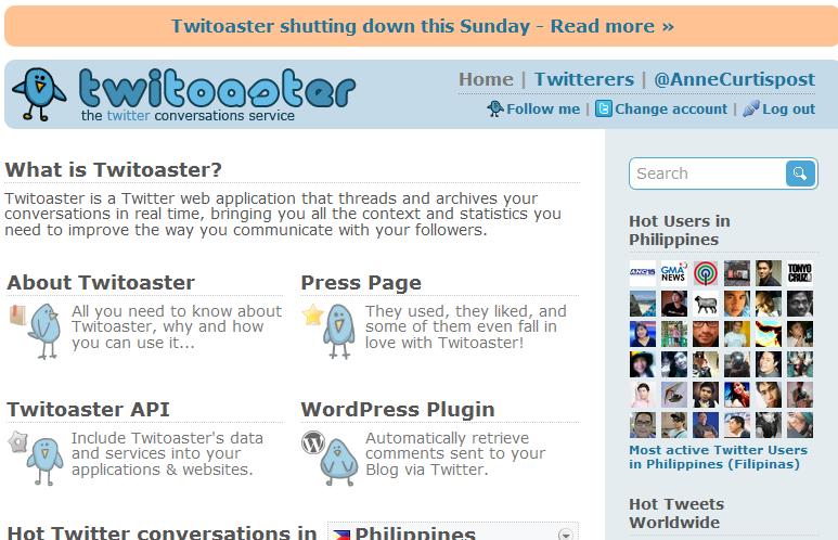 Twitoaster shutting down this Sunday [SCREENSHOTS], twitoaster_shutting_down_this_Sunday_nugglepurl