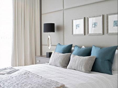 Combinaciones con gris for Cuarto azul con gris