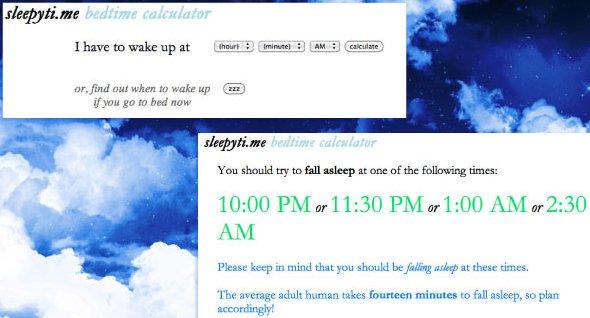 Sleepyti.me – Aplicación para Calcular las Horas de Sueño y Dormir Bien