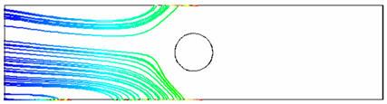 Расчет взаимодействия жидкости с заряженными частицами с внешним электростатическим полем. electromagnetics@cfx. Частицы заряжены отрицательно