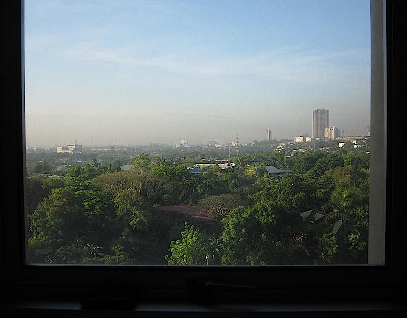 view of Pasig City from a room in The Medical City