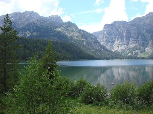 Phelps Lake and Teton Mountains in Wyoming