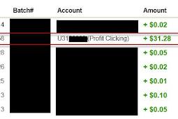 Bukti Pembayaran Profitclicking $31,28 (Eks Justbeenpaid) Pembayaran Kedua