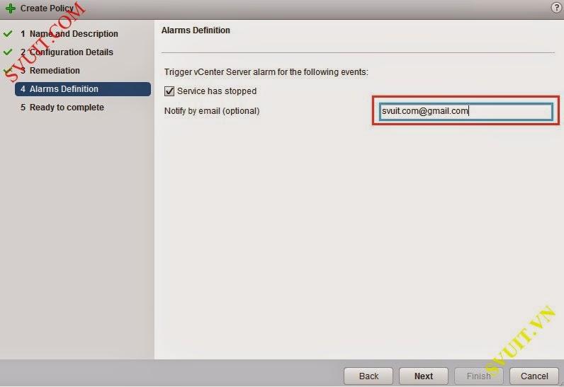 Configure policy vSphere app Ha (9)