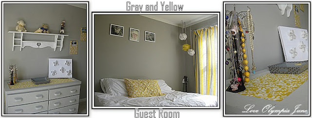 Gray and Yellow Guest Room