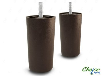Choice Parts 4 Inch Dark Walnut Plastic Sofa Legs Pack Of 2 Replacement Feet 5 16 Size Bolt