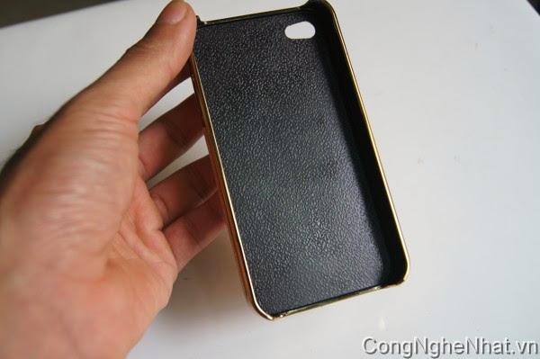 Ốp lưng IPHONE 4/4S viền mầu vàng sang trọng