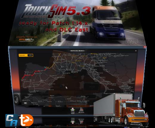 TruckSIM Map 5.3 para ETS2 1.14.x