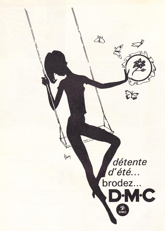 Tricot vintage : Détente d'été, brodez D. M. C.- Pour vous Madame, pour vous Monsieur, des publicités, illustrations et rédactionnels choisis avec amour dans des publications des années 50, 60 et 70. Popcards Factory vous offre des divertissements de qualité. Vous pouvez également nous retrouver sur www.popcards.fr et www.filmfix.fr