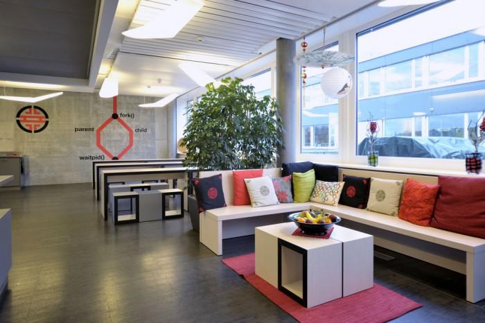 Офиса на гугъл в Цюрих - ресторанта