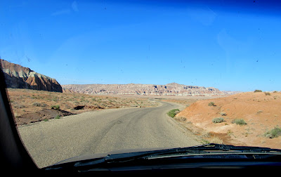 The now-paved road to Little Wild Horse Canyon