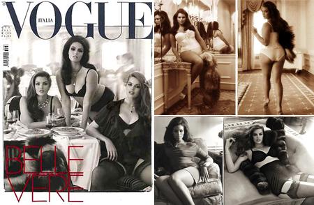 Vogue Itália (06/11) com modelos plus size na capa