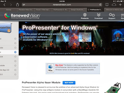 Blackmagic Forum • View topic - CG (ProPreseter) keyed over
