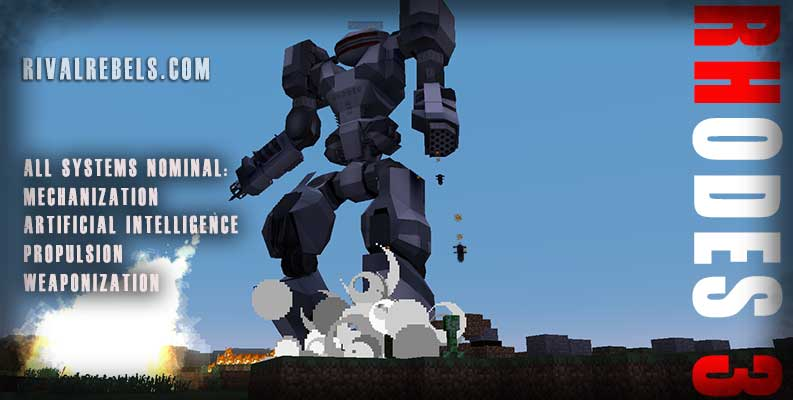 RHODES Boss Robot mob Minecraft