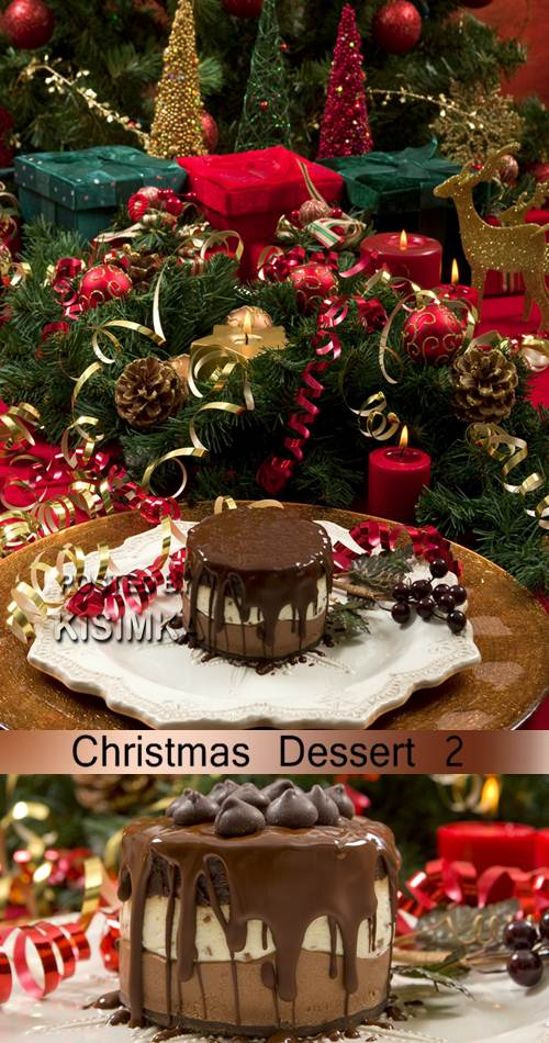 Stock Photo: Christmas Dessert 2