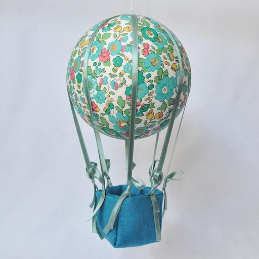 montgolfière liberty betsy vert nacelle bleu canard