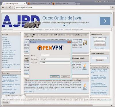 Configurar el acceso VPN desde un equipo cliente desde fuera de la red, desde Internet