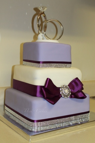 Tlite Cakes And Planning Purple Theme Wedding Cake