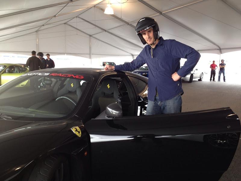 Jack in front of a Ferrari Scuderia