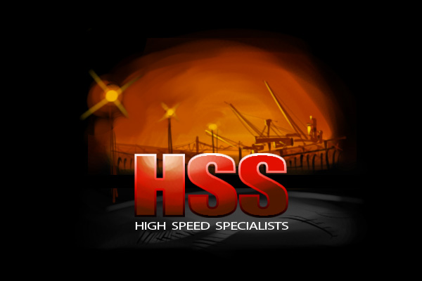 high speed specialists logo sketch