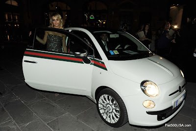 Fiat 500 and Carolina Crescentini