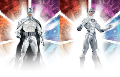Convention Exclusive White Lantern Batman & White Lantern Flash Brightest Day Action Figures by DC Direct & Graphitti Designs
