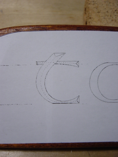 Nameboard chip carving advice page