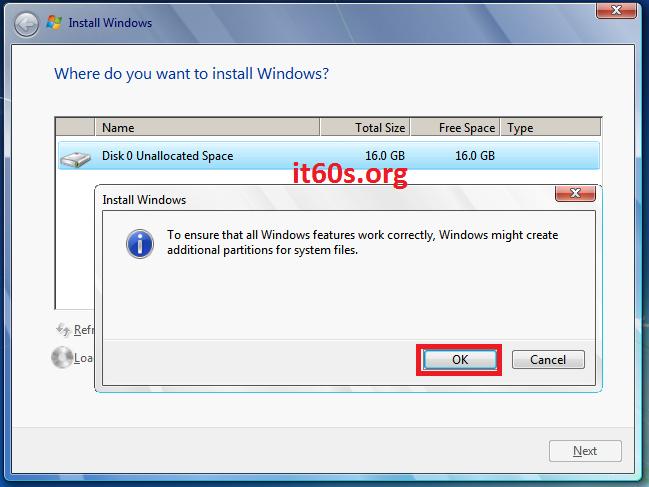 Thủ thuật khắc phục lỗi 0x80070057 khi cài Windows 7 12