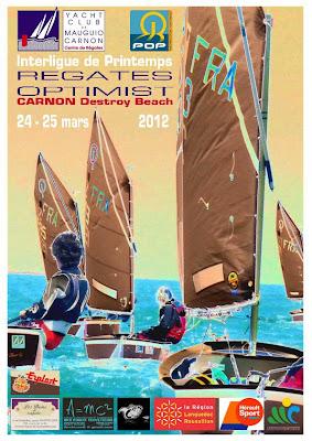 régate inter-liue optimist Carnon mars 2012 france Génération-opti