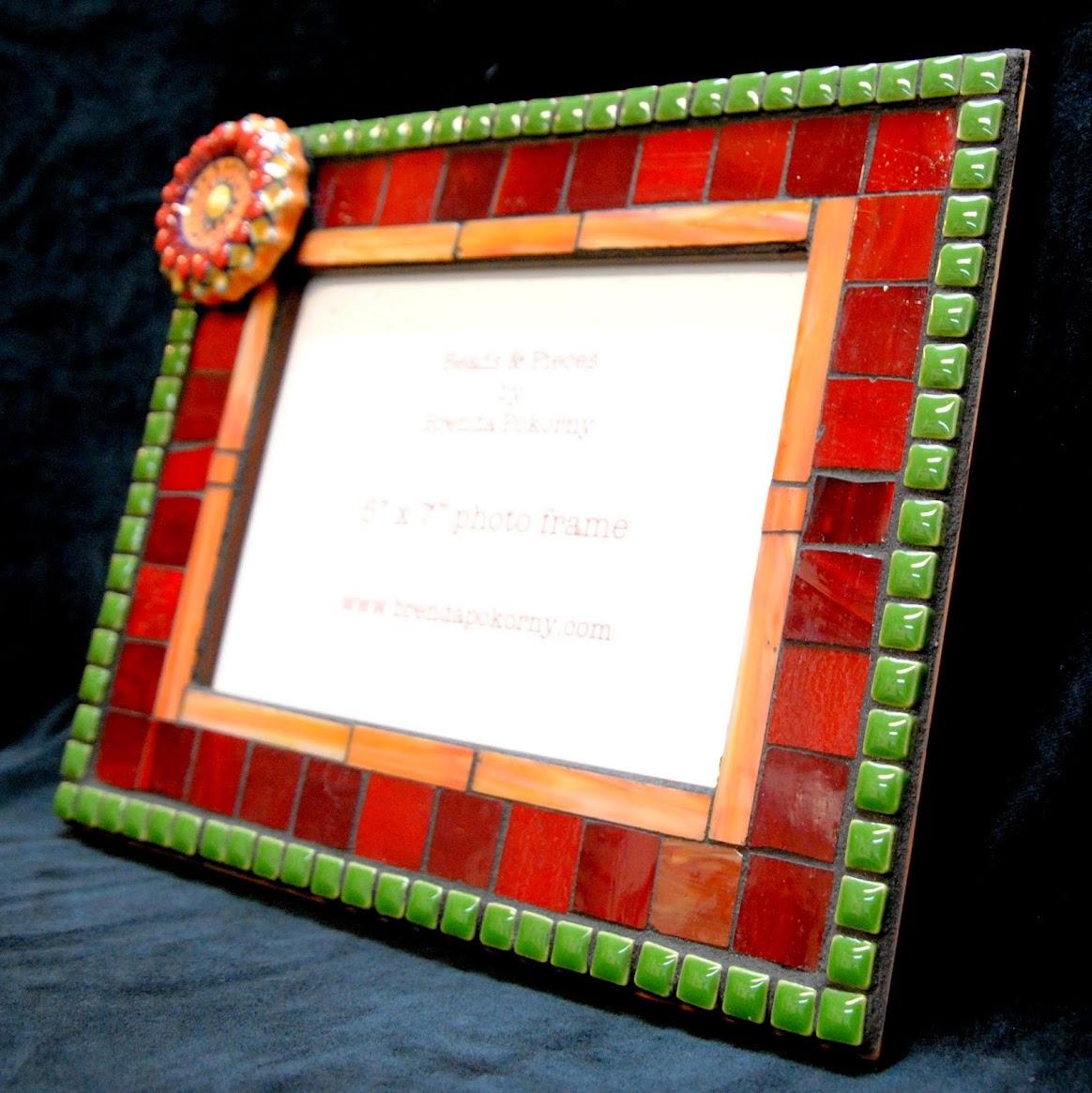 Fall Flower Garden Mosaic Photo Frame MOF1416