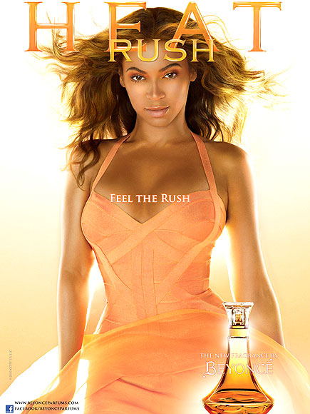 HOT SINGER BEYONCE KNOWLES HEAT RUSH FAMOUS PERFUME REVEAL