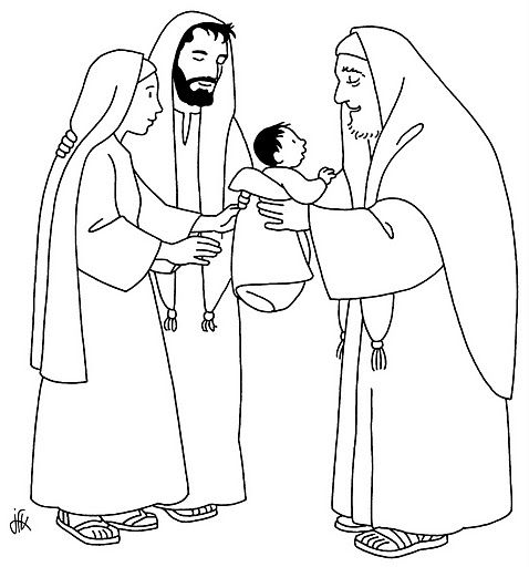 Dibujos Católicos : Imagenes de la presentación de Jesús en el ...