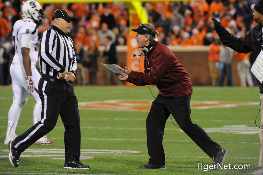 Clemson vs. South Carolina Photos - 2012, Football, South Carolina, Steve Spurrier