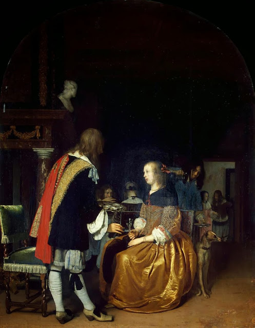 Frans van Mieris the Elder - Oyster Eaters