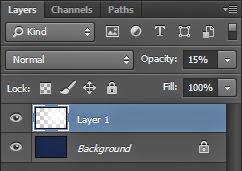 Ubah opacity pada layer