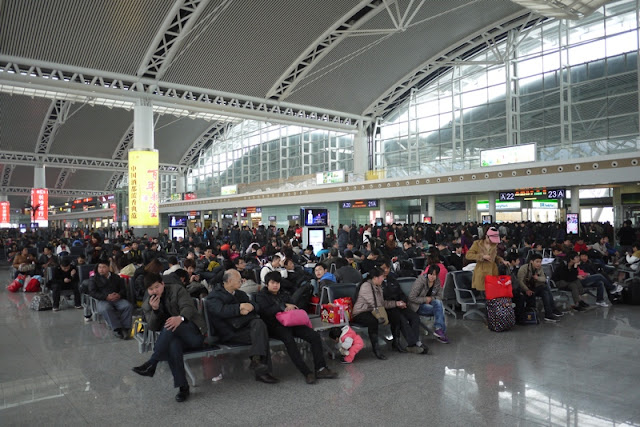 waiting area at Guangzhou South Train Station