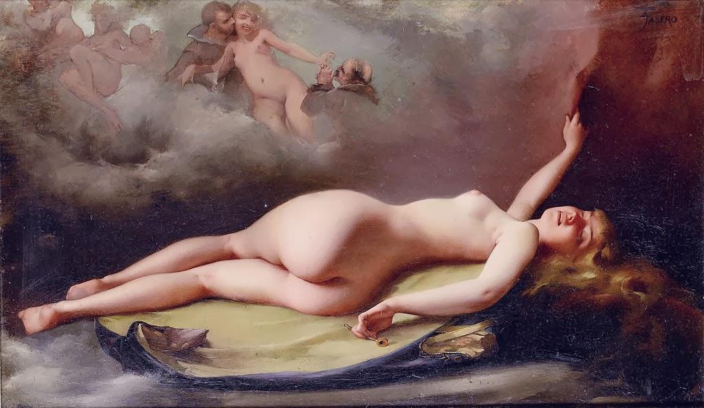 Luis Ricardo Falero - Reclining nude