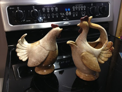 set of chicken pitchers