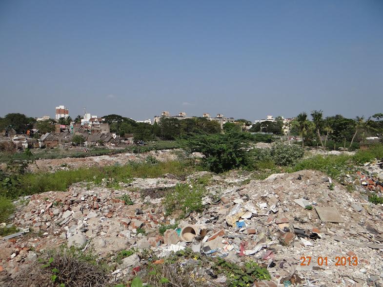 Rubble in Janakiraman colony, Poonamalee High road, Arumbakkam