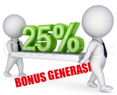 Keuntungan Distributor 25% Bonus Generasi Level2