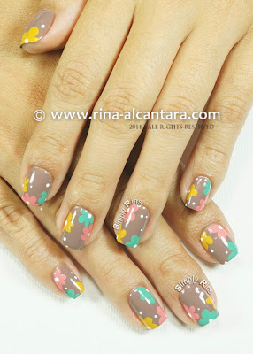 Pastel on Nude Nail Art by Simply Rins