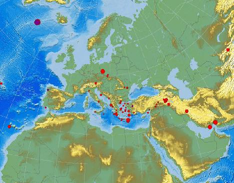 Erdbebenlage Europa am 20.11.2011