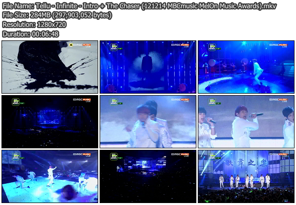 [Perf] Infinite   Intro + The Chaser @ MelOn Music Awards 121214