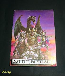 Portada del libro Battle Bestiary de la 2ª Edición de Warhammer Fantasy Battle